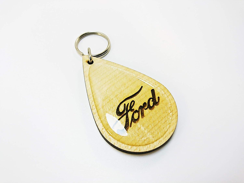 auto-badges Bois Massif Vintage Classique Ford Porte-cl/és