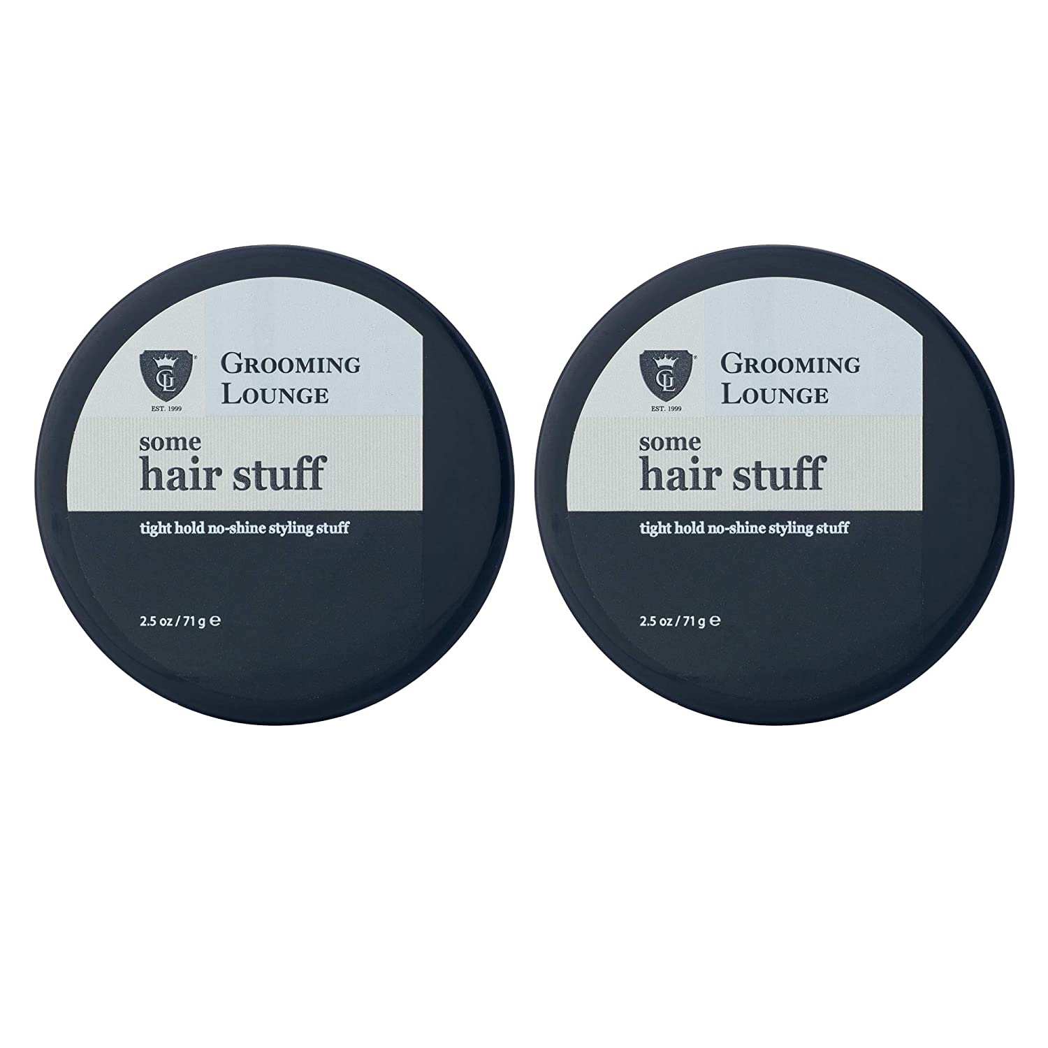 Grooming Lounge Some Hair Stuff – Strong-Hold, Mega-Pliable, No-Shine/Matte Styling Aid For Men– 2.5 oz, 2-Pack