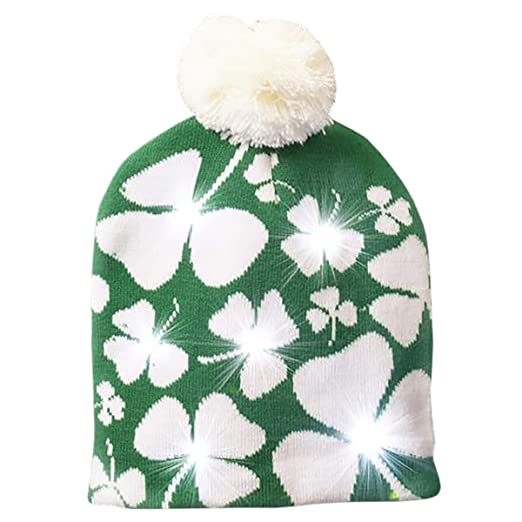 6bbb526db588f6 Image Unavailable. Image not available for. Color: Rhode Island Novelty LED Saint  Patrick's Day Winter Hats ...