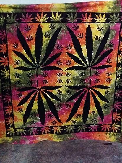 Amazon Com Traditional Mafia Weed Leaf Tie And Dye Tribal Ethnic