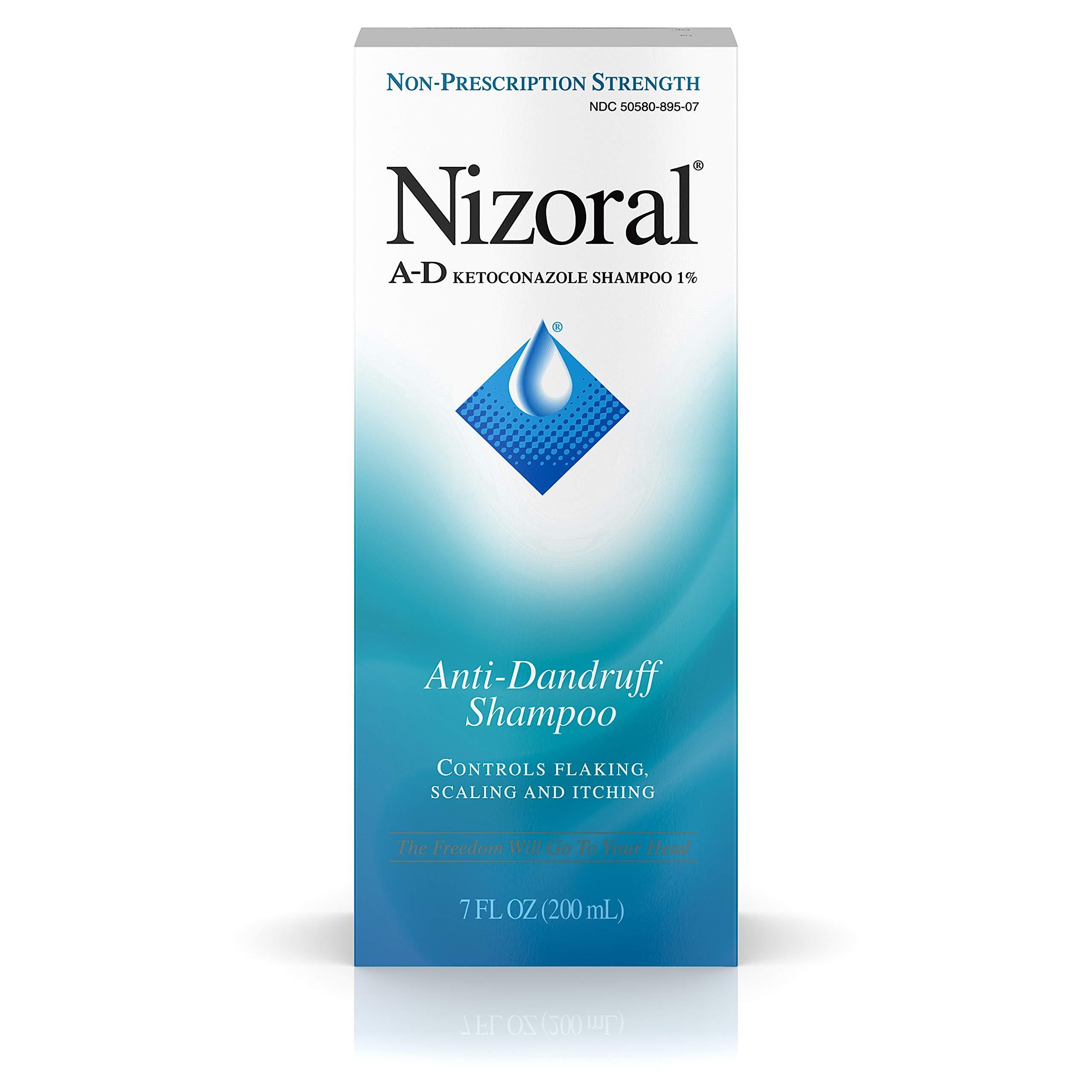 Nizoral A-D Anti-Dandruff Shampoo 7 Fl. Oz Itchy Scalp Dandruff Treatment w/ Ketoconazole 1%