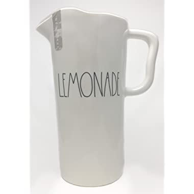 Rae Dunn By Magenta LEMONADE Large Letter LL Melamine Pitcher