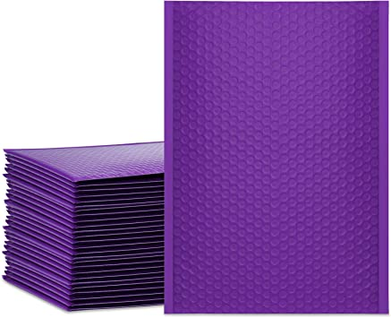UCGOU 6x10 Inch Purple Poly Bubble Mailers Padded Envelopes 25pcs