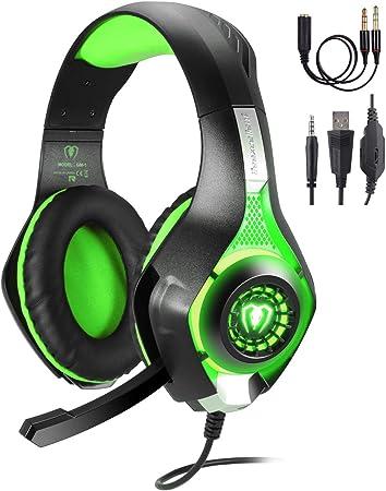 TR Turn Raise Set de auriculares con micrófono para gaming, PC, PS4, Xbox One, Nintendo Switch rojo Rot: Amazon.es: Hogar