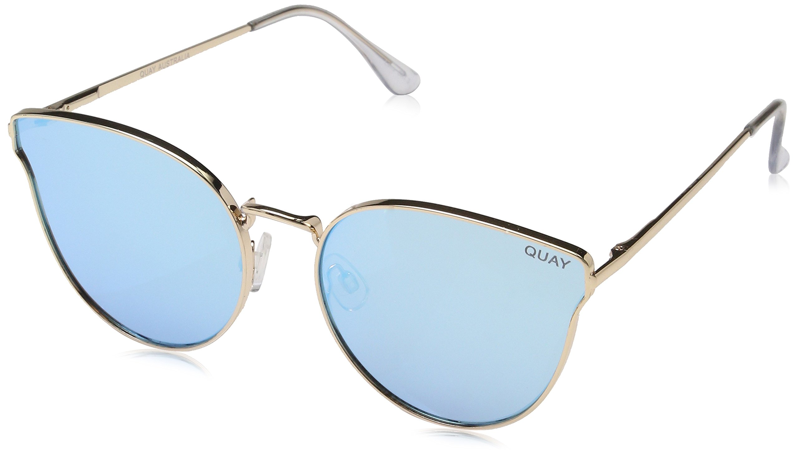 Quay Women's All My Love Sunglasses, Gold/Blue, One Size
