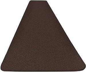 House, Home and More Outdoor Carpet Runner - Dark Brown - 3 Feet x 20 Feet