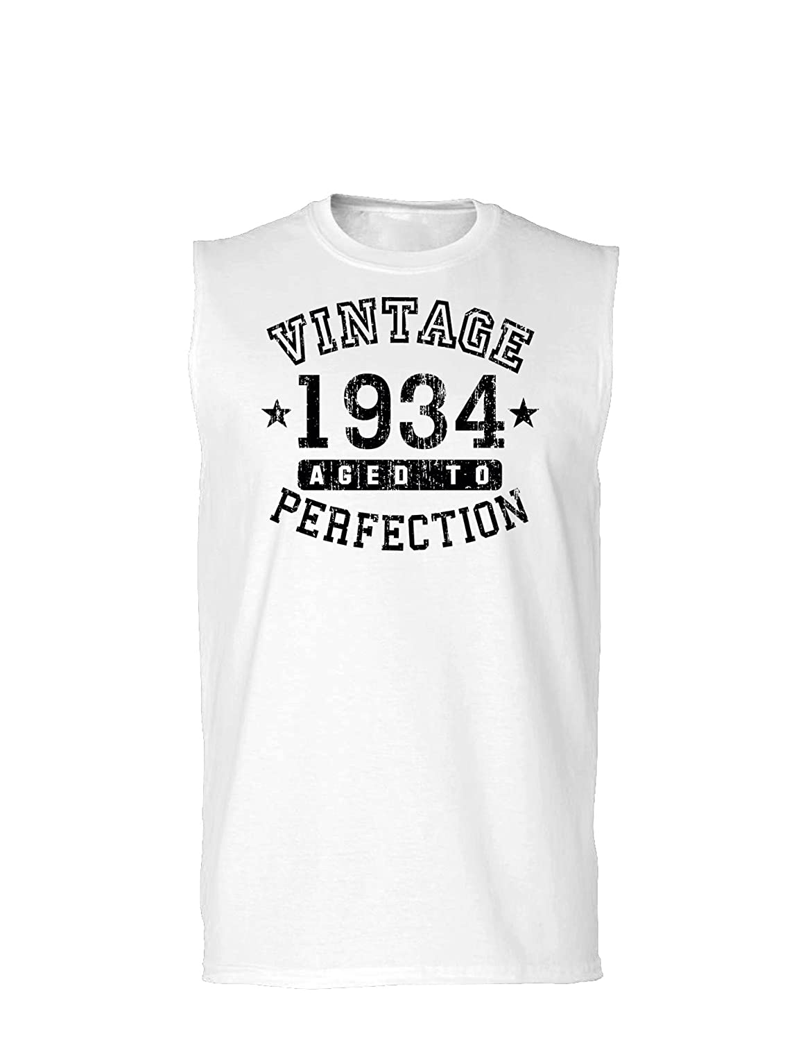 Vintage Birth Year Muscle Shirt Brand TooLoud 1934