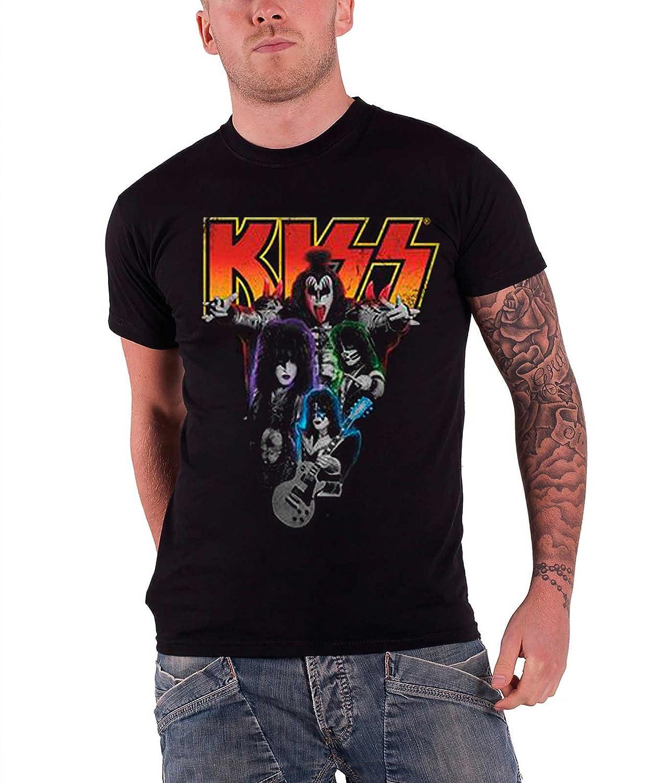 Kiss T Shirt Neon Band Logo Official Mens Black