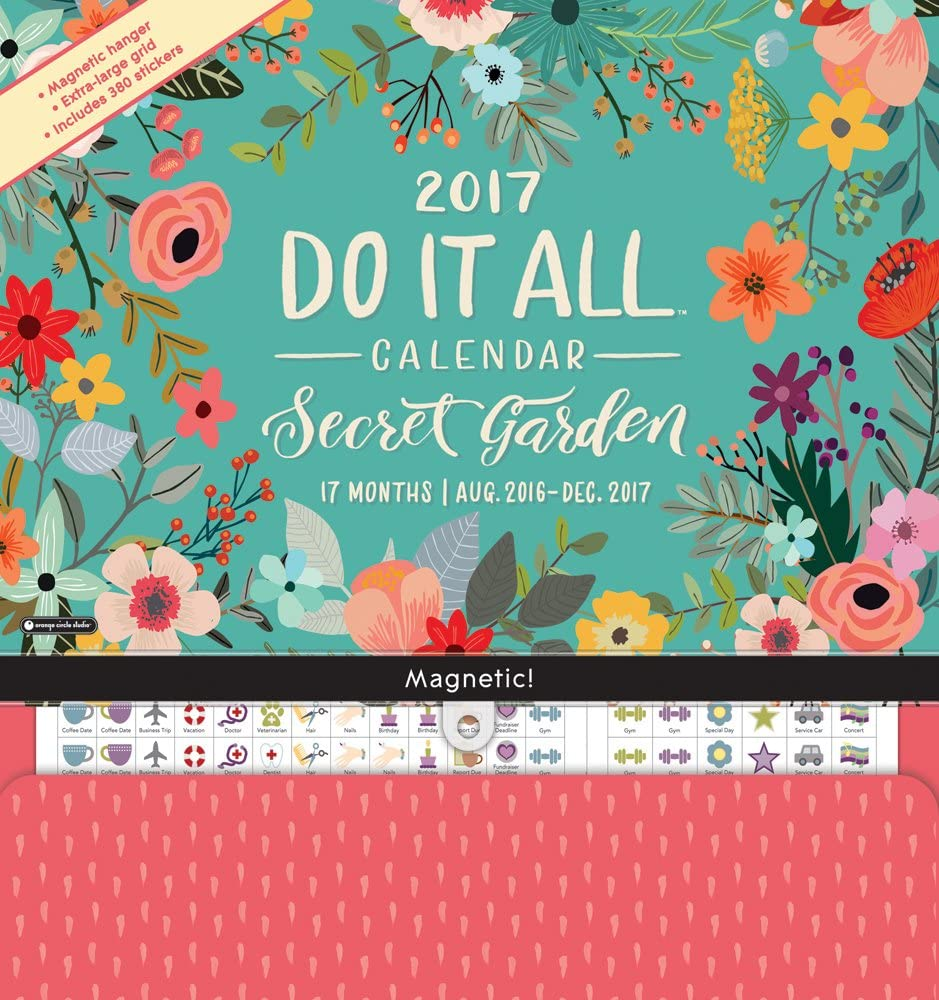 Magnetic Monthly Pads (2016-2017, Secret Gardens)