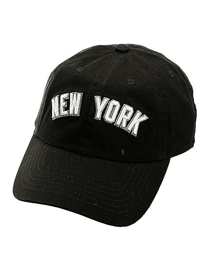 NYFASHION101 Unisex NYC New York City Embroidered Adjustable Low Profile Cap cb0296faa73f