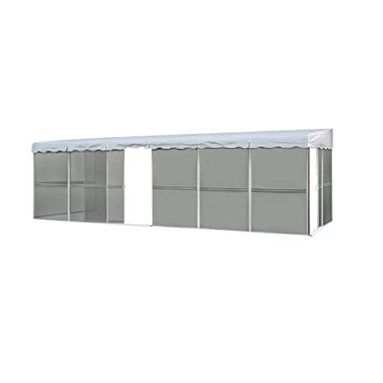 Awesome Patio Mate 10 Panel Screen Enclosure 09322, White With Gray Roof