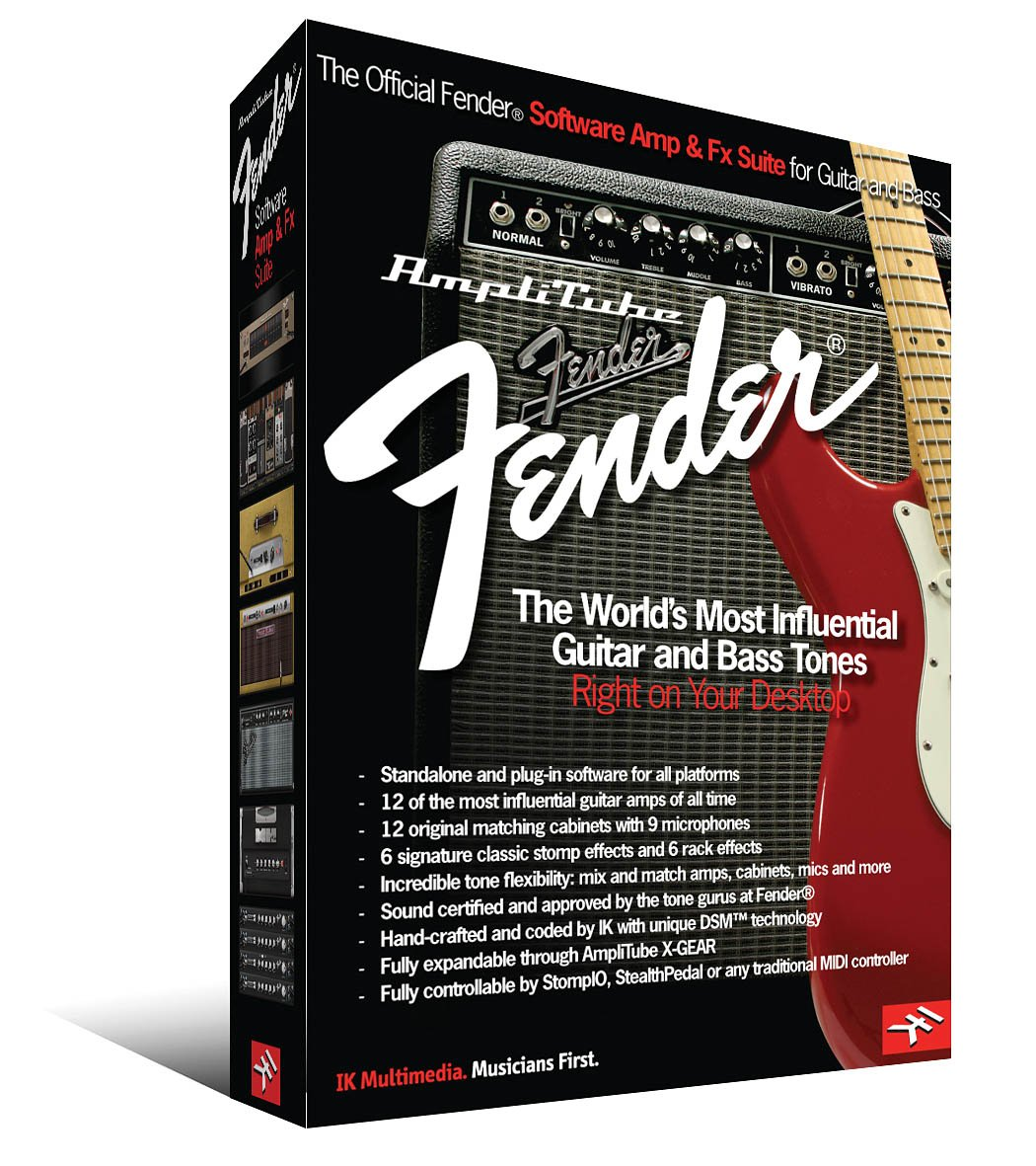 AMPLITUBE FENDER SOFTWARE    AMP & FX SUITE FOR           GUITAR AND BASS