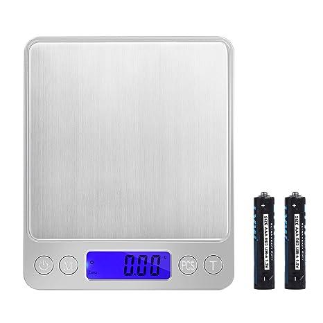 Neoteck 0.01g-500g Escala de Bolsillo Digital Alta Precisión Báscula Electrónica con Retroiluminada LED