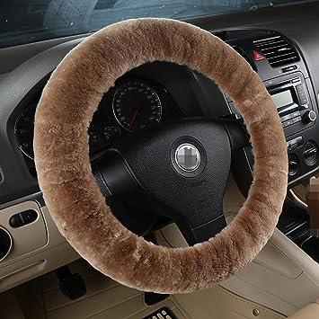 amazon com pure wool auto steering wheel cover genuine sheepskinpure wool auto steering wheel cover genuine sheepskin great grip anti slip car steering wheel