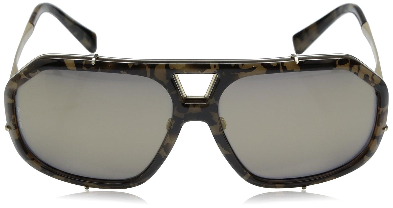 6c1c2e338c49 DOLCE & GABBANA Men's 2167 0DG2167 1306W7 61 Rectangular Sunglasses 61,  Camo Green/Grey: Amazon.co.uk: Clothing