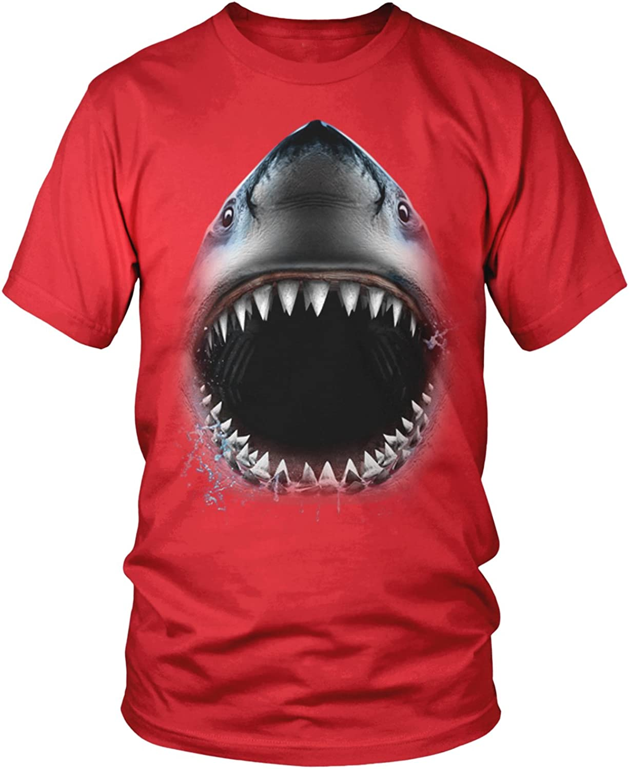 Amdesco Great White Shark Bite, Shark Face Jaw Men's T-Shirt