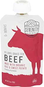 SERENITY KIDS Grass Fed Beef with Sweet Potato and Kale, 3.5 OZ