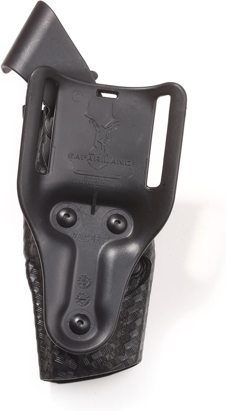 S/&W M/&P 9 STX Basketweave Safariland 6360 Level III ALS Retention Duty Holster Mid-Ride Black 40