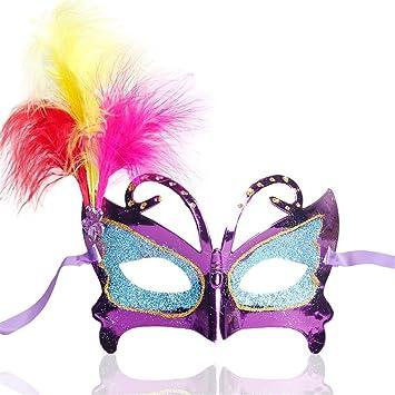 PromMask Mascara Facial Careta Protector de Cara dominó Frente Falso Halloween Baile máscara Media Cara Princesa