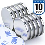 DIYMAG Powerful N52 Neodymium Disc Magnets, Strong, Permanent, Rare Earth Magnets. Fridge, DIY, Building, Scientific, Craft, and Office Magnets - 1.26