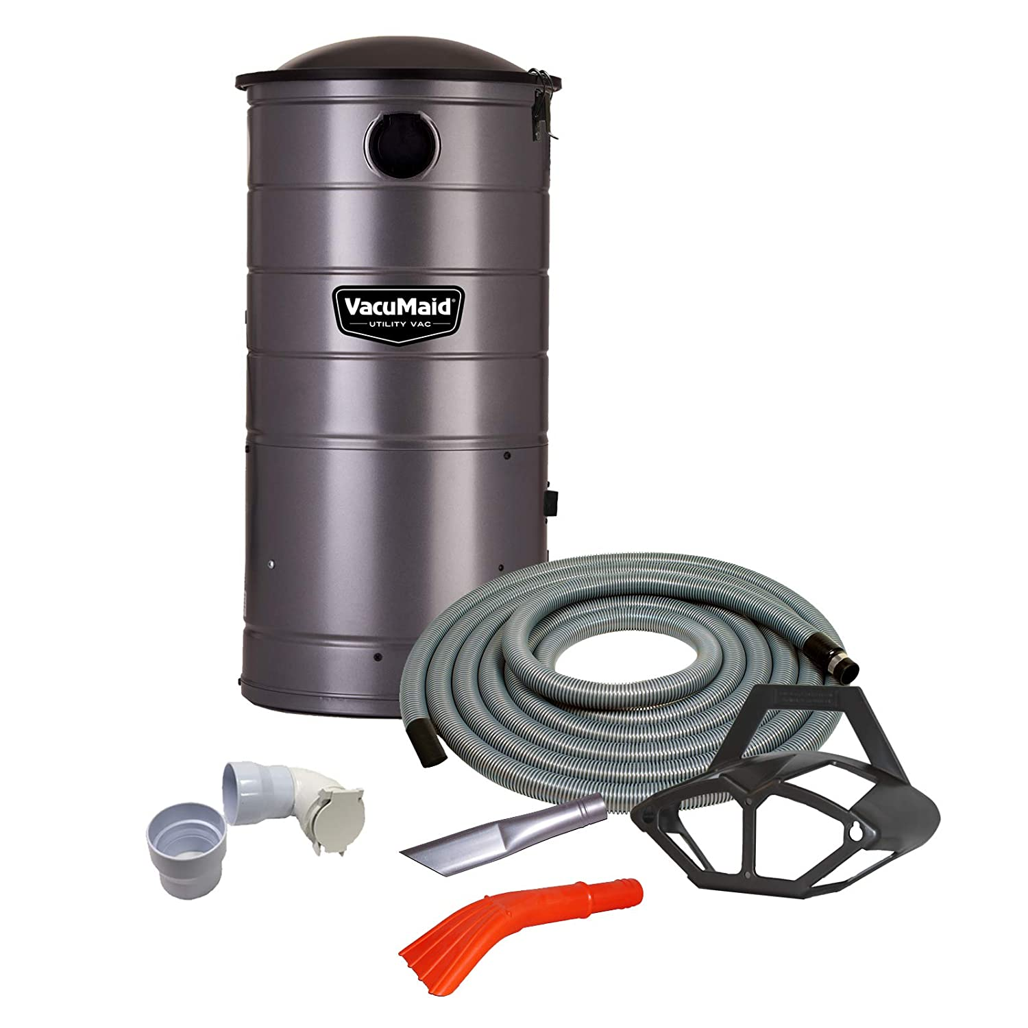 VacuMaid UV150CKP1 Extended Life Wall Mounted Commercial Vacuum with 50 ft. Car Care Kit Unit and Kit Plus 1 Inlet