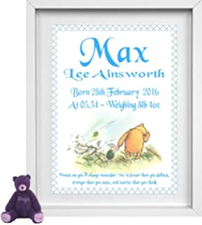 Connor 7x5 photo print. Personalised Name Gifts For Kids