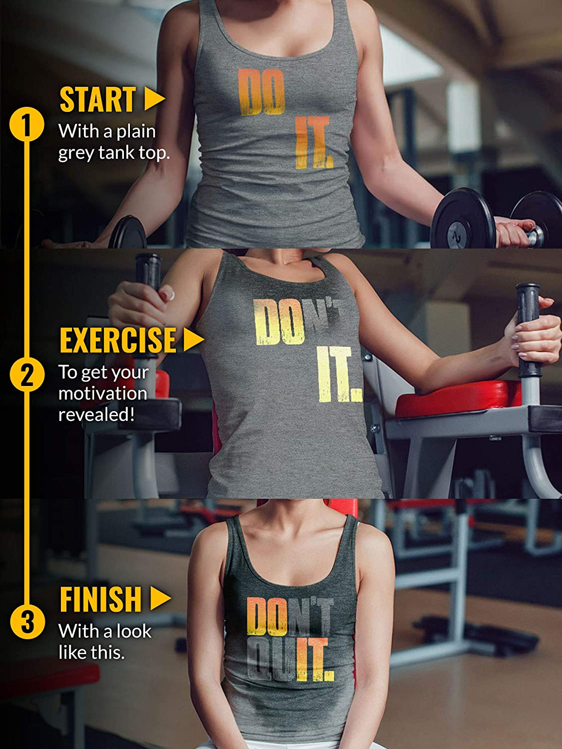 Actizio Sweat Activated Funny Workout Women's Tank Top, Do It - Don't Quit: Clothing