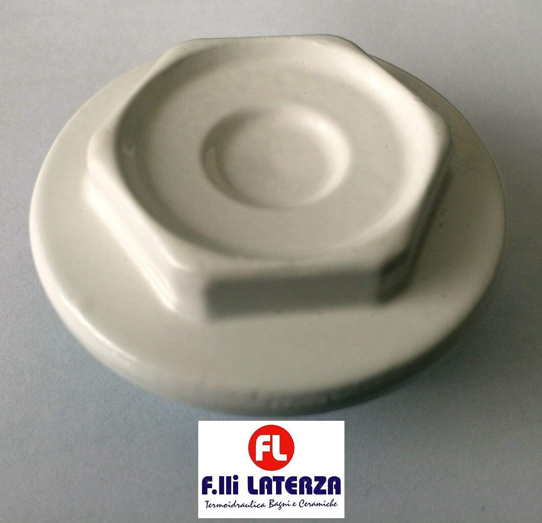 Tapón para radiador, termosifón, hierro fundido, 1 pulgada, derecha e izquierda, color blanco