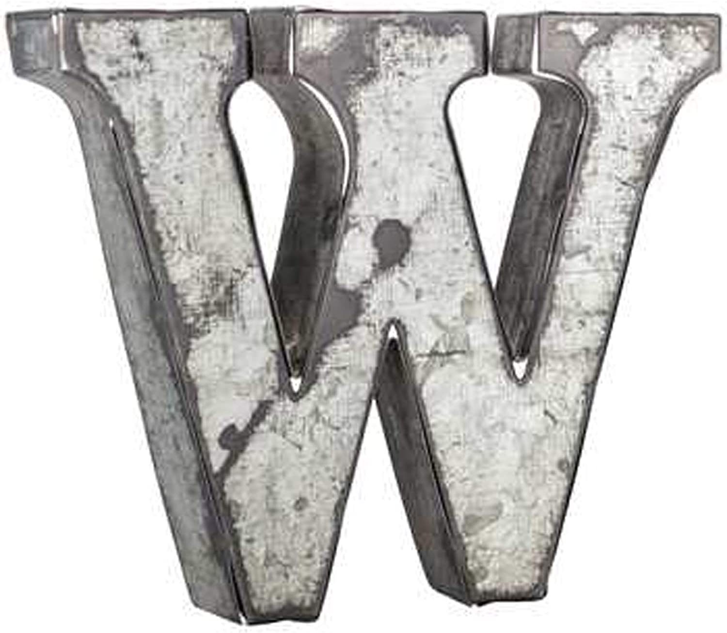 Wisechoice Decorative Alphabet Metal Wall Decor Letter W | Perfect for Home Display -Silver, 3.75 Inch L x 3.5 Inch W
