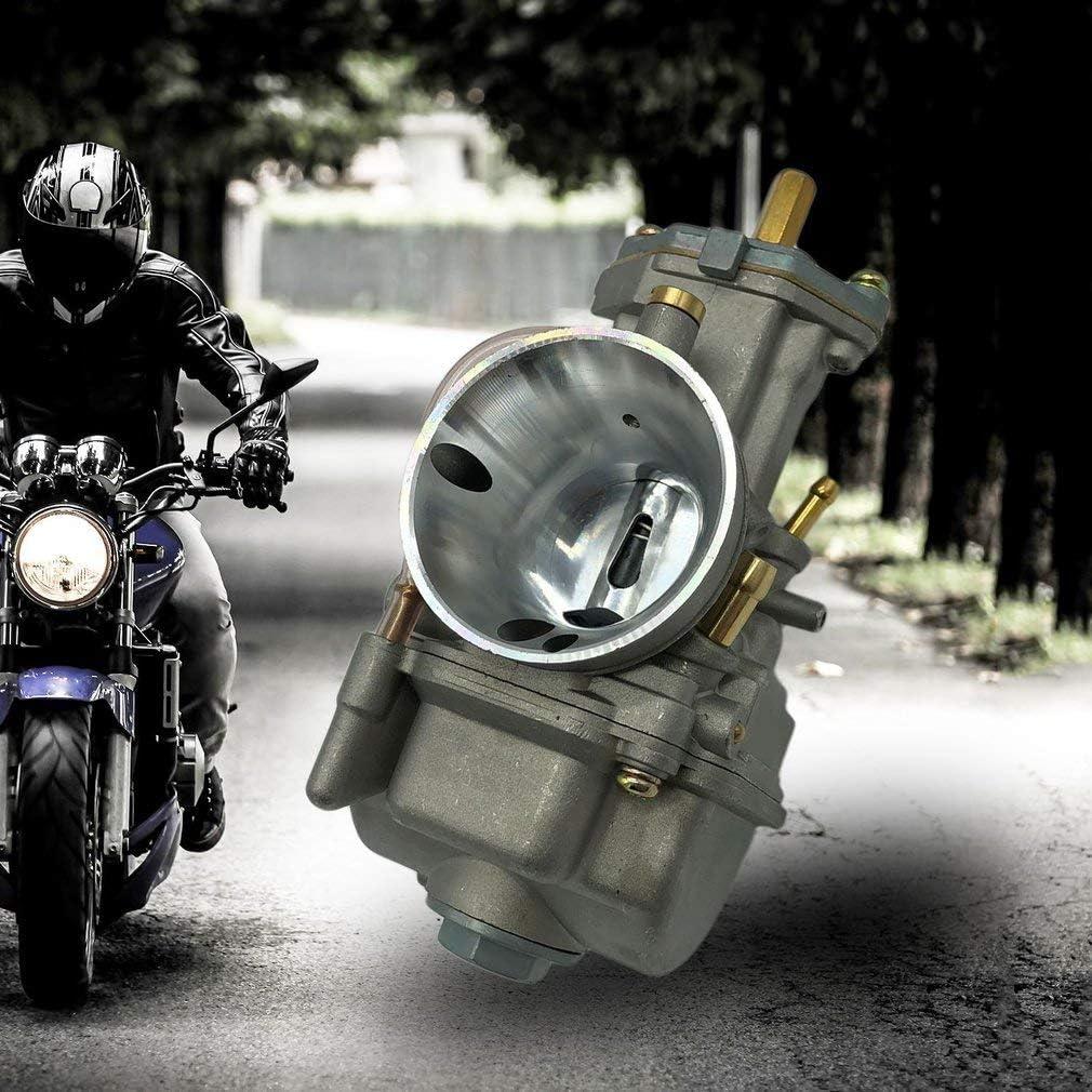 FairytaleMM Carburateur Haute efficacit/é Moteur Carb Remplacement du Grand carburateur PWK 28MM Accessoires modifires pour Automobiles Gris