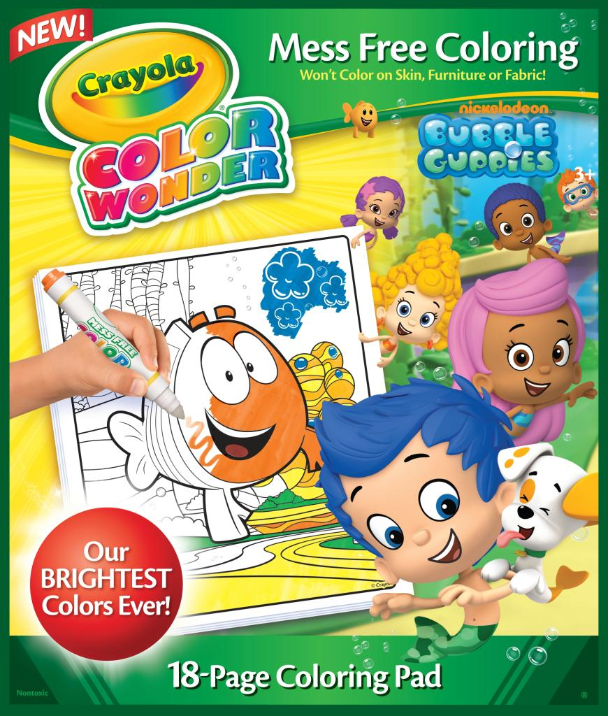 amazon com crayola bubble guppies color wonder refill book toys