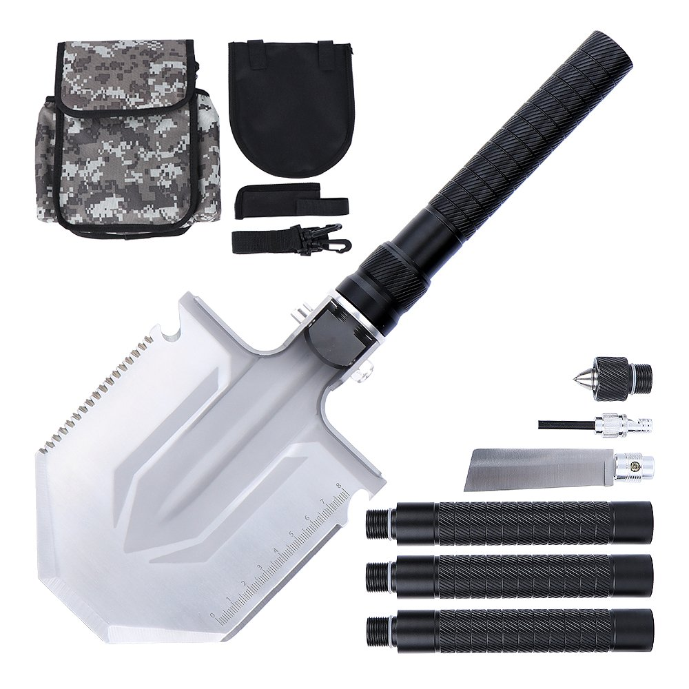 Anyoo Multi-Function Military Folding Camping Shovel Portable Compact with Carrying Pouch for Camping Hiking Backpacking Adventure