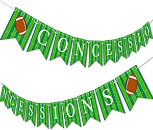 Football Banner Concessions Garland Party Supplies Decoration Sports Game Day SUPER BOWL Sunday Pre-strung
