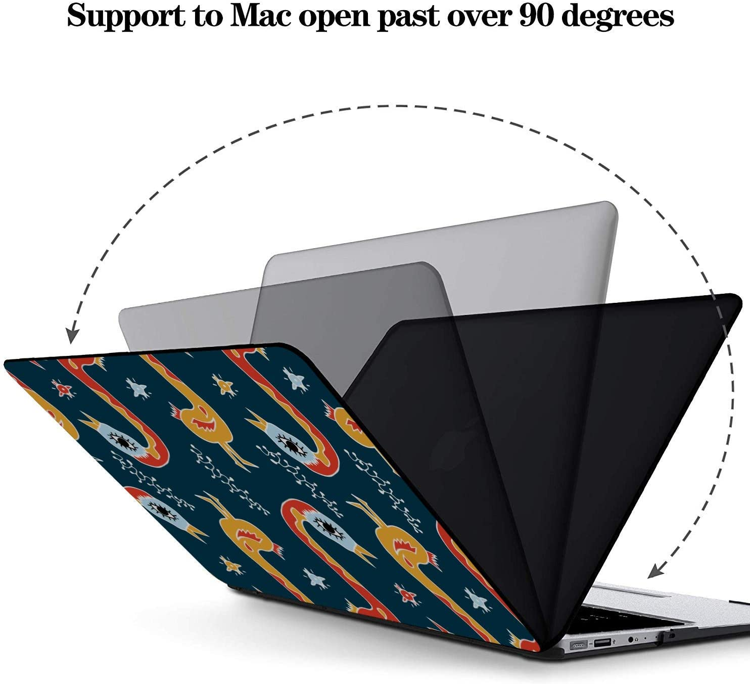 A1466 Case Spring Cute Hummingbirds Flowers Plastic Hard Shell Compatible Mac Air 11 Pro 13 15 MacBook Pro Shell Protection for MacBook 2016-2019 Version