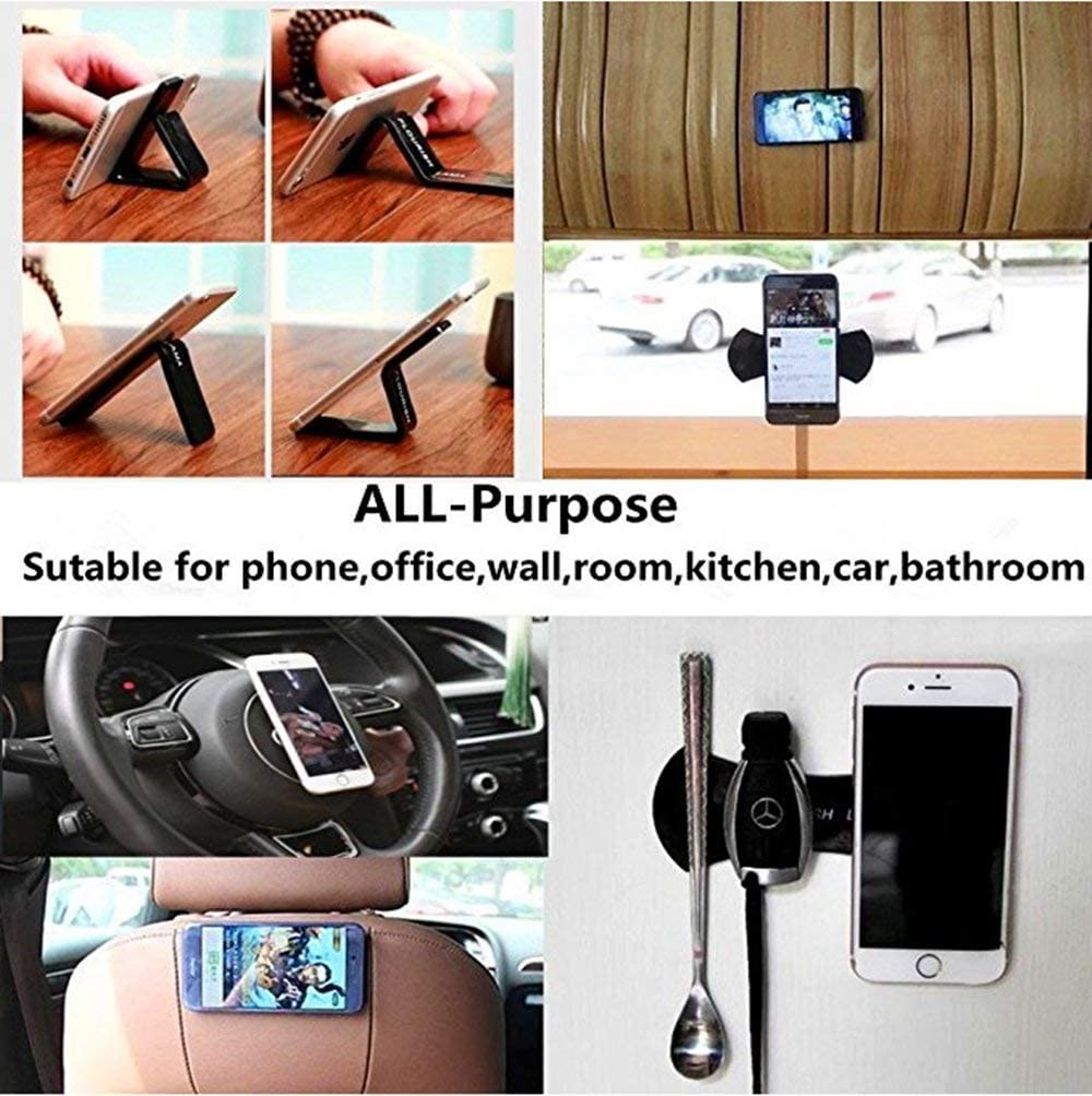 ProMaker Multi Purpose Nano Sticky Gel Pad for Cell Phone Holder Dashboard Anti Slip Pad GPS Car Mat Phone Tablet Stick to Wall Glass Mirrors Kitchen Office Cabinets Nano Rubber Pads