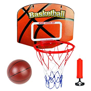Canasta Baloncesto Tablero Infantil Baloncesto Juego Al Aire Libre y Interior Oficina Habitación Jardín Aro Baloncesto para Niños y Adultos (con ...