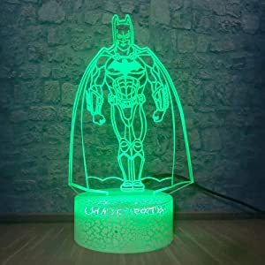 Marvel Figure Batman Night Light 3D LED Table Desk Lamp Children's Bedside Lampen Party Bedroom Bar Mall Decor Kids Toys
