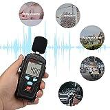 Decibel Meter Digital Sound Level Meter MESTKE 30 - 130 dB Noise Volume Measuring Instrument Reader Self-Calibrated Max Min Data Hold Fast/Slow Mode LCD Backlight Display/Flashlight Gift