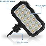 BlueBeach® Mini LED Strahler Flash Selfie Fotolicht Kamera Foto Video Licht Lampe für Smartphoness (Schwarz)
