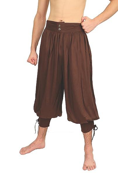 Amazon.com: Wayfarer Mens Gypsy o pirata pantalones W/Lace ...