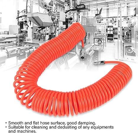 SALAKA Manguera de Aire de Retroceso 1PC 12m Manguera de Poliuretano roja Manguera de Aire Flexible de PU con Juntas