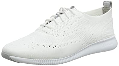 0acefc49c15 Cole Haan Women's 2.Zerogrand Stitchlite Oxford Optic White Knit/Cole Haan  Argento Metallic
