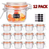 Small Glass Jars With Airtight Lids,Encheng Glass Spice Jars 5 oz,Maosn Jars With Leak Proof Rubber Gasket 150ml,Glass…