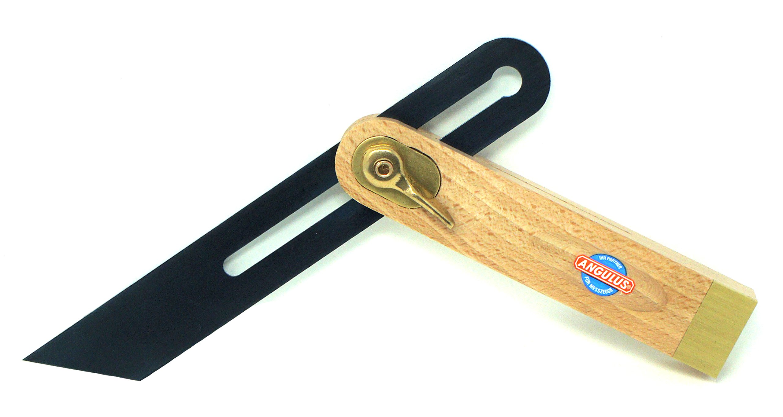 Angulus 8-Inch Sliding T-Bevel with Beech Wood Handle, Hardened Blued Steel Blade and Brass Fittings - Made in Germany