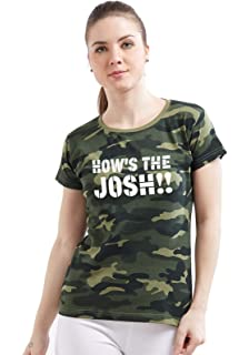 1a5b9b4a67 Wear Your Opinion WYO Women's Army Military Camouflage Printed Top T-Shirt  (How's The