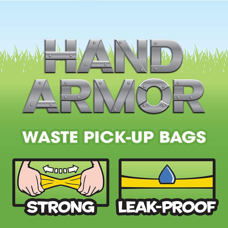 Bags on Board Armadura de Mano Extra Grueso Perro Poop Pick-up Paquete de 100