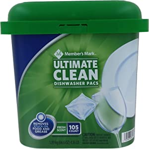 Member's Mark Ultimate Clean Dishwasher Pacs, Fresh Scent (105 Count)