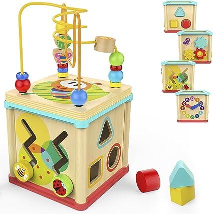 Amazon.com: Cubo de actividades brillante para bebé, de ...
