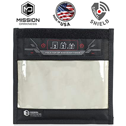 07756092d6fc Mission Darkness Window Faraday Bag for Phones - Device Shielding for Law  Enforcement, Military, Executive Privacy, Travel & Data Security, ...