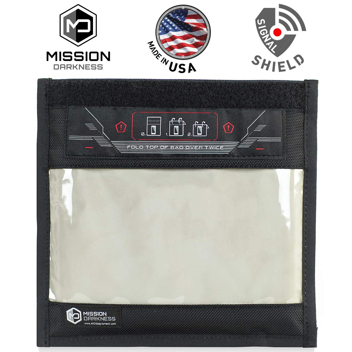 Mission Darkness Window Faraday Bag for Phones - Device Shielding for Law Enforcement, Military, Executive Privacy, Travel & Data Security, Anti-Hacking & Anti-Tracking Assurance by Mission Darkness (Image #1)